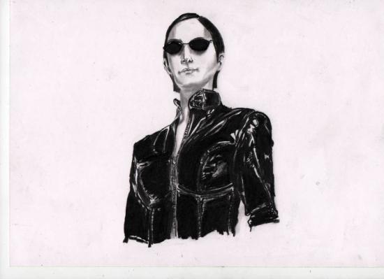 Carrie-Anne Moss by zacke